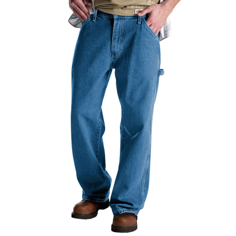 DICKIES Men's Relaxed Carpenter Jeans - STONEWASH