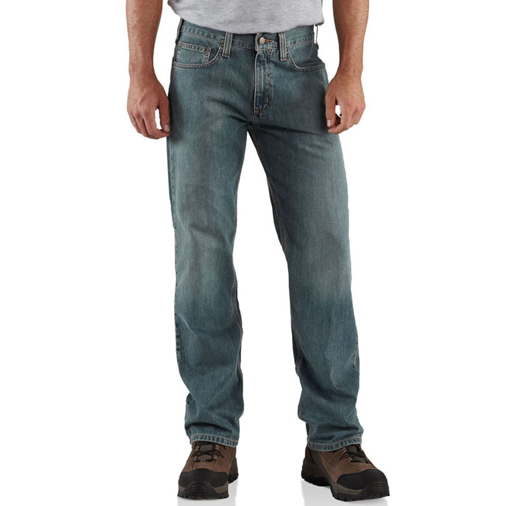 CARHARTT Men's Relaxed Fit Jeans - LIGHT WEATHERED BLUE