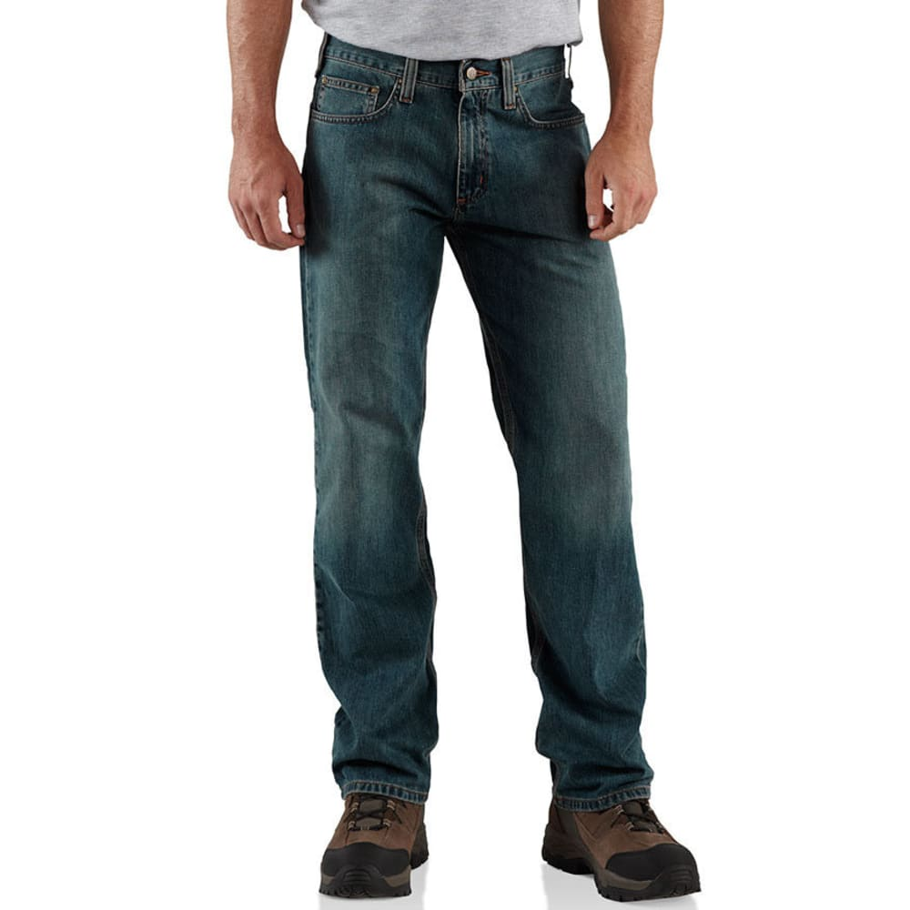 CARHARTT Men's Relaxed Fit Jeans - WTB WEATHERED BLUE