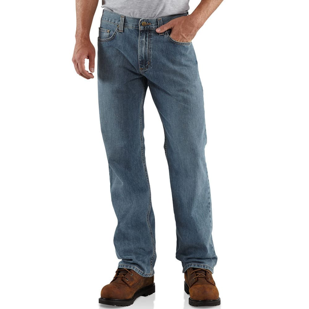 CARHARTT Men's Loose Fit Straight Leg Jeans - CHAMBRAY