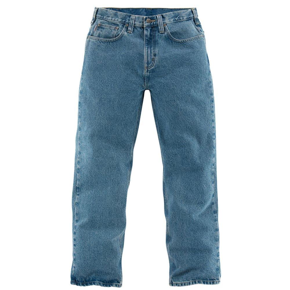 CARHARTT Men's Straight Leg Relaxed Fit Jeans, Extended sizes - LIGHT VINTAGE