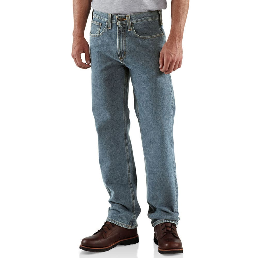 CARHARTT Men's Traditional Denim 5 Pocket Boot Cut Jeans, Extended sizes - LIGHT VINTAGE