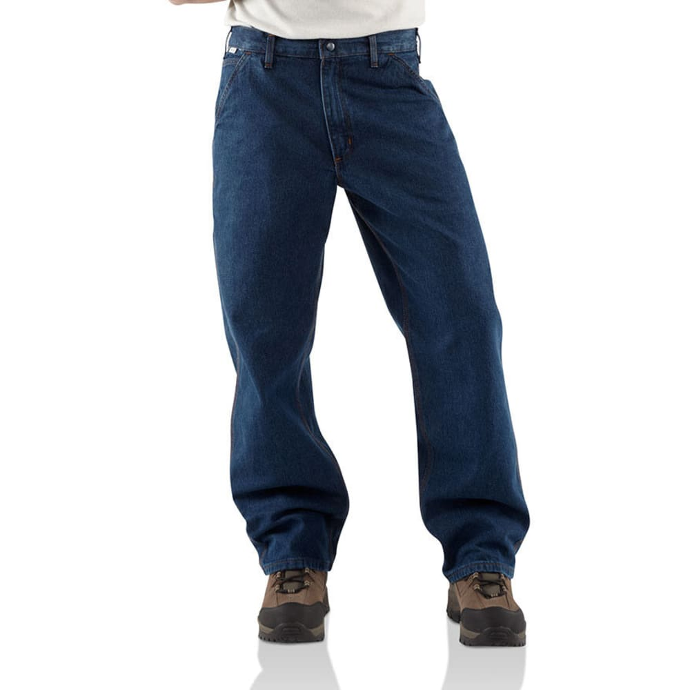CARHARTT Men's Flame Resistant Dungarees, Extended Sizes - DENIM