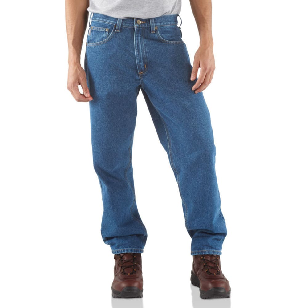 CARHARTT Men's Relaxed Fit Jeans - STONEWASH