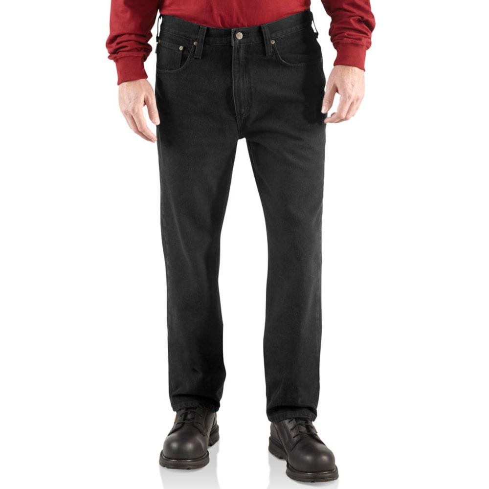 CARHARTT Men's Relaxed Straight Denim Jeans - BLACK