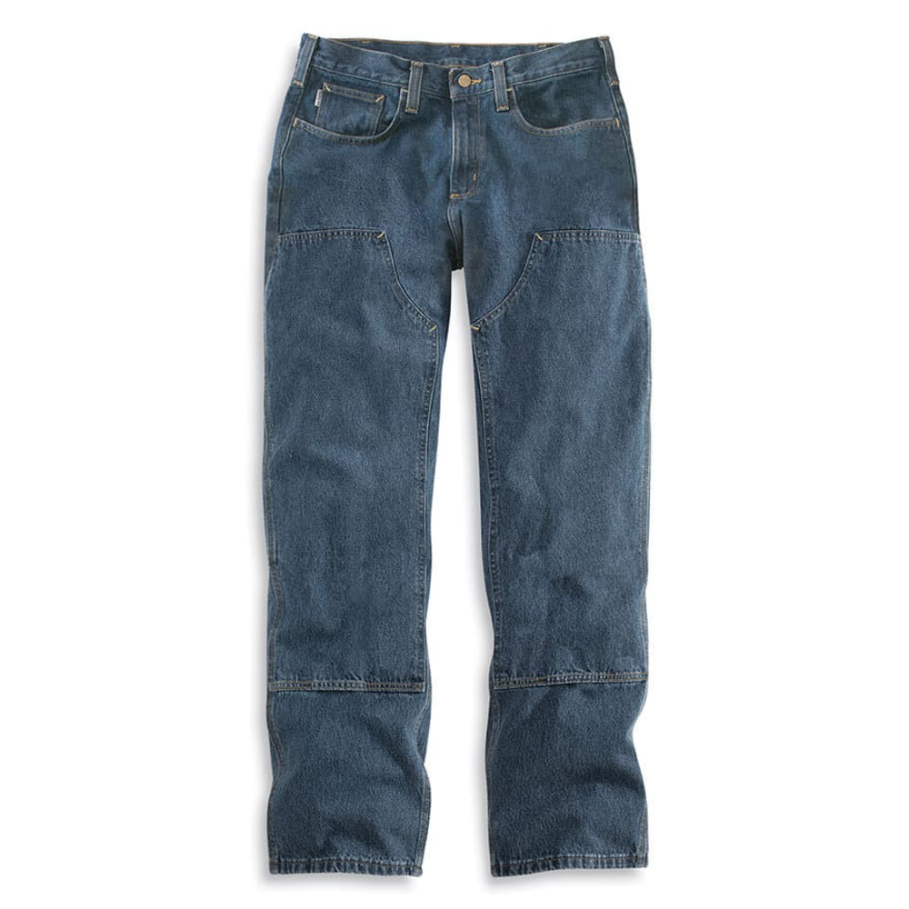 CARHARTT Men's Flame Resistant Utility Denim Double Front Relaxed Fit Jeans - MIDSTONE