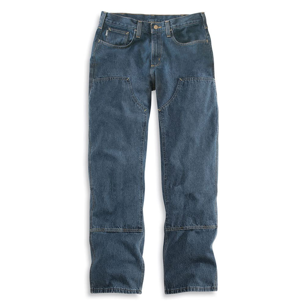 CARHARTT Men's Flame Resistant Utility Denim Double Front Jeans, Extended Sizes - MIDSTONE