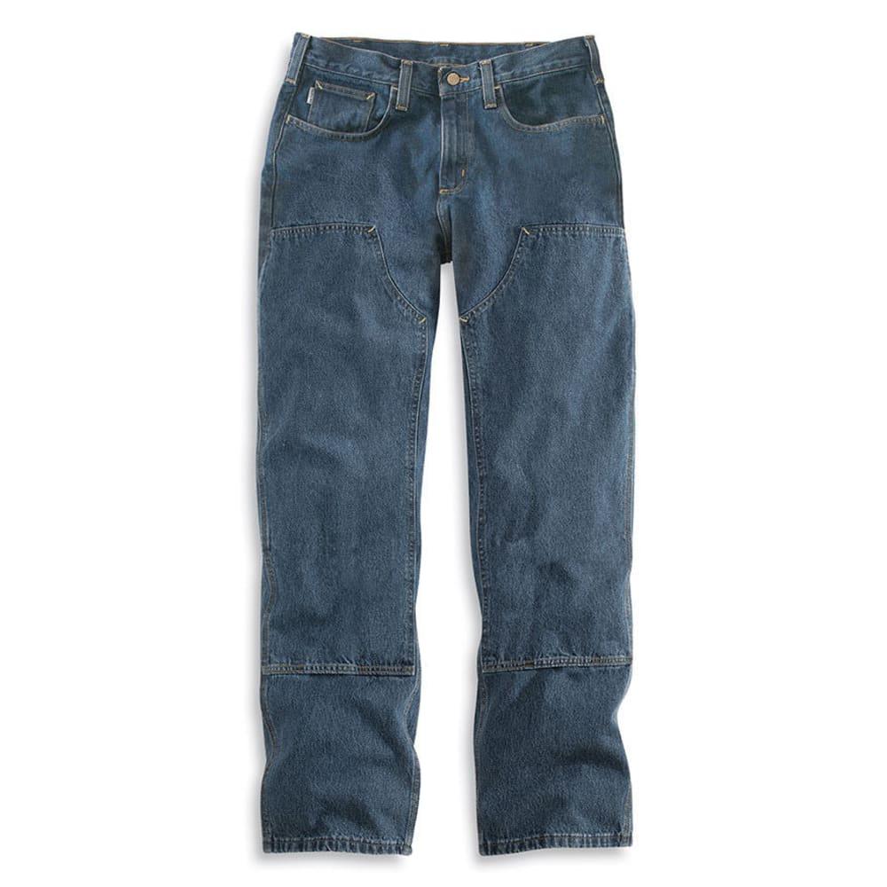 CARHARTT Men's Flame Resistant Utility Denim Double Front Jeans, Extended Sizes - MIDSTONE