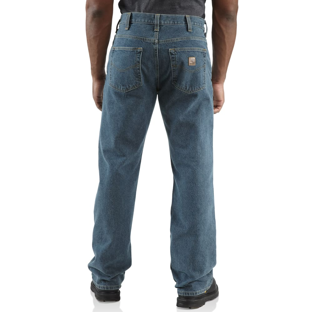 CARHARTT Men's Loose-Fit Straight Leg Jeans - DEEP STONE