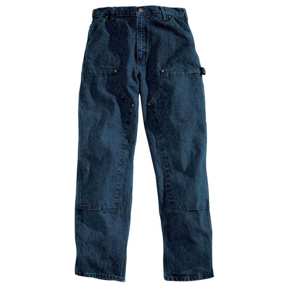 CARHARTT Men's Relax Fit Double-Front Washed Logger - DARK VINTAGE