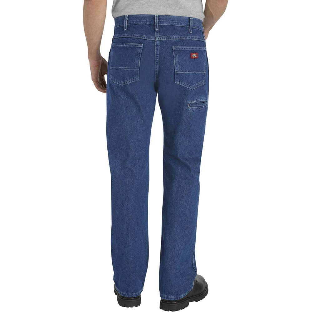 DICKIES Men's 6-Pocket Regular Fit Work Jeans - STONEWASH
