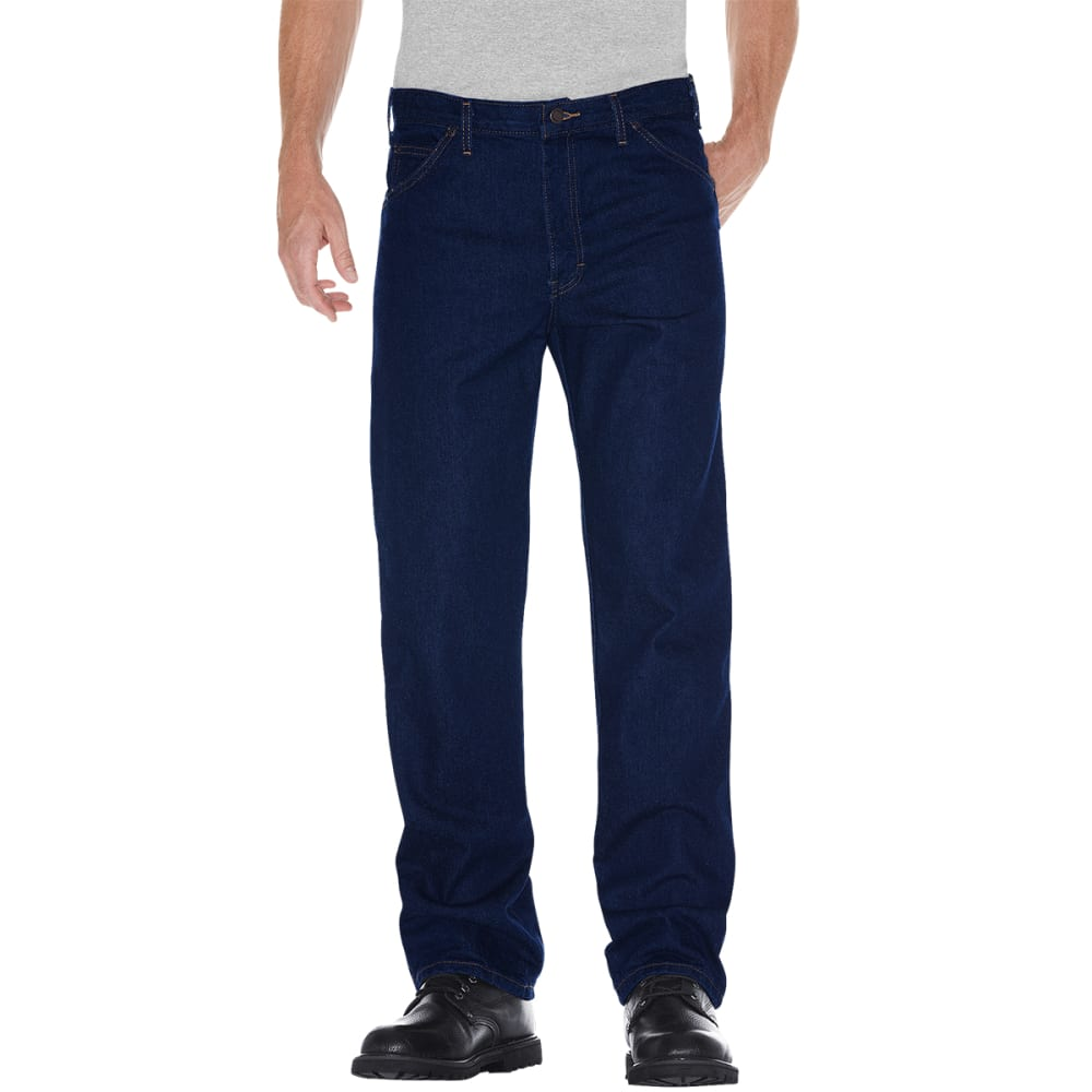 DICKIES Men's 5-Pocket Straight Leg Denim Jeans, Regular Fit - RIGID IN/30