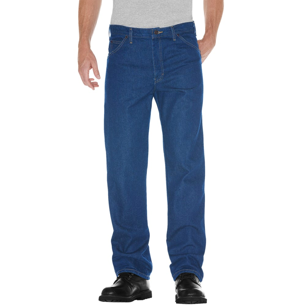 DICKIES Men's 5-Pocket Straight Leg Denim Jeans, Regular Fit - STN WSH/30