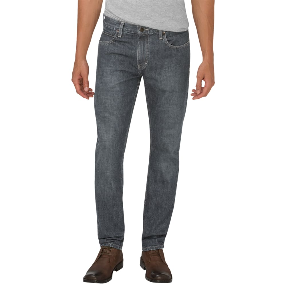 DICKIES Men's Slim Fit Taper Leg Jeans - GREY