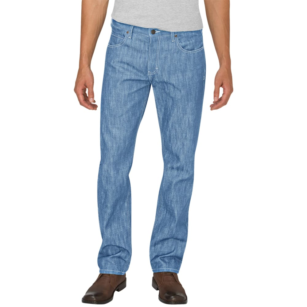 DICKIES Men's Regular Fit Straight Leg Jeans - INDIGO CHAMBRAY