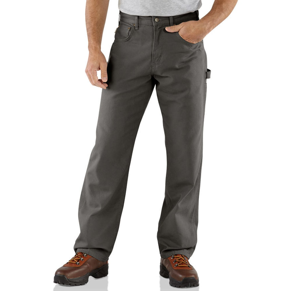 CARHARTT Men's Loose Fit Canvas Carpenter Jeans - CHARCOAL