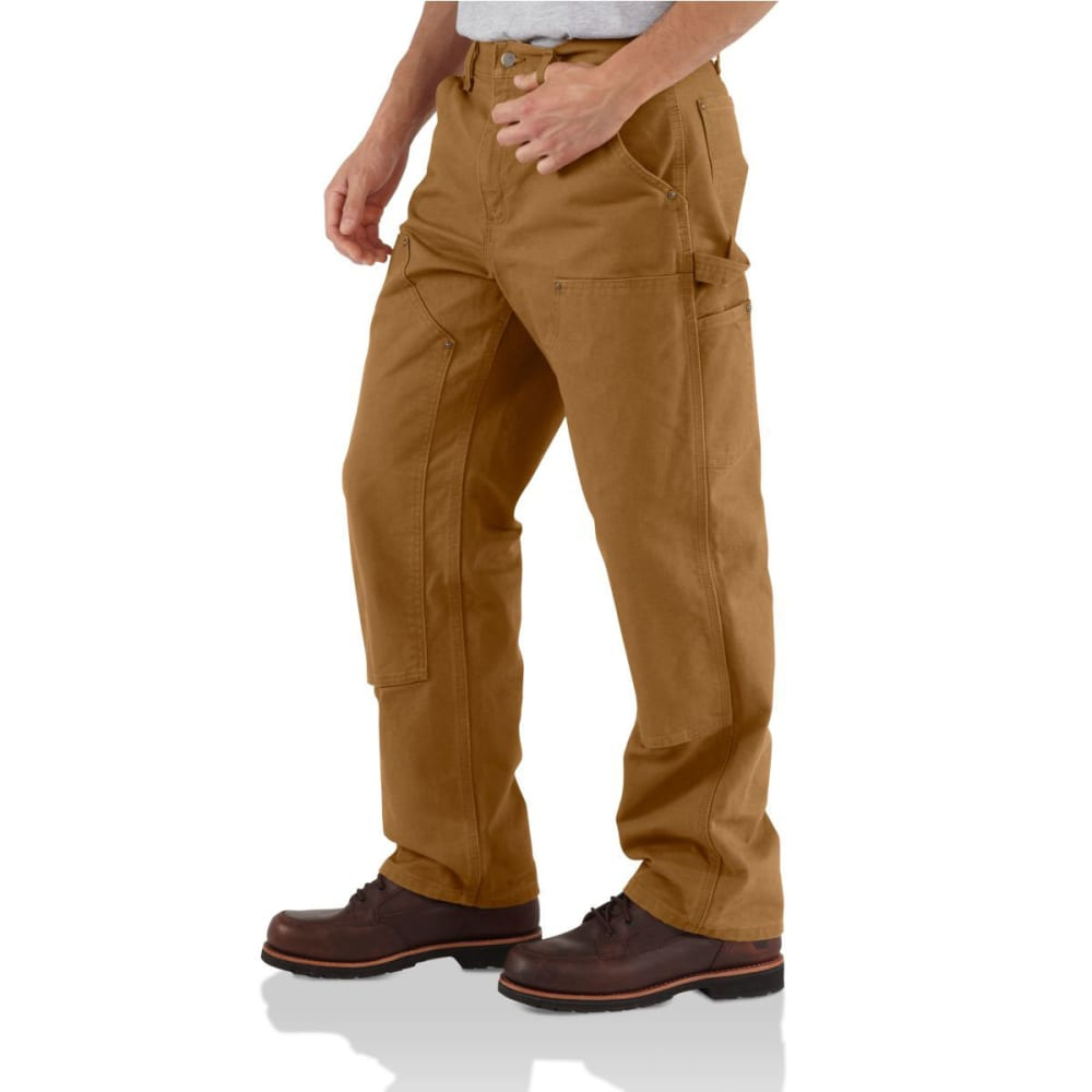 CARHARTT Men's Washed-Duck Double-Front Work Dungarees - BRN CARHARTT BROWN