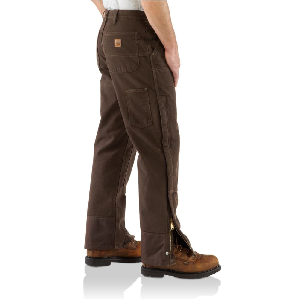 CARHARTT Men's Sandstone Insulated Pants - SHALE BROWN