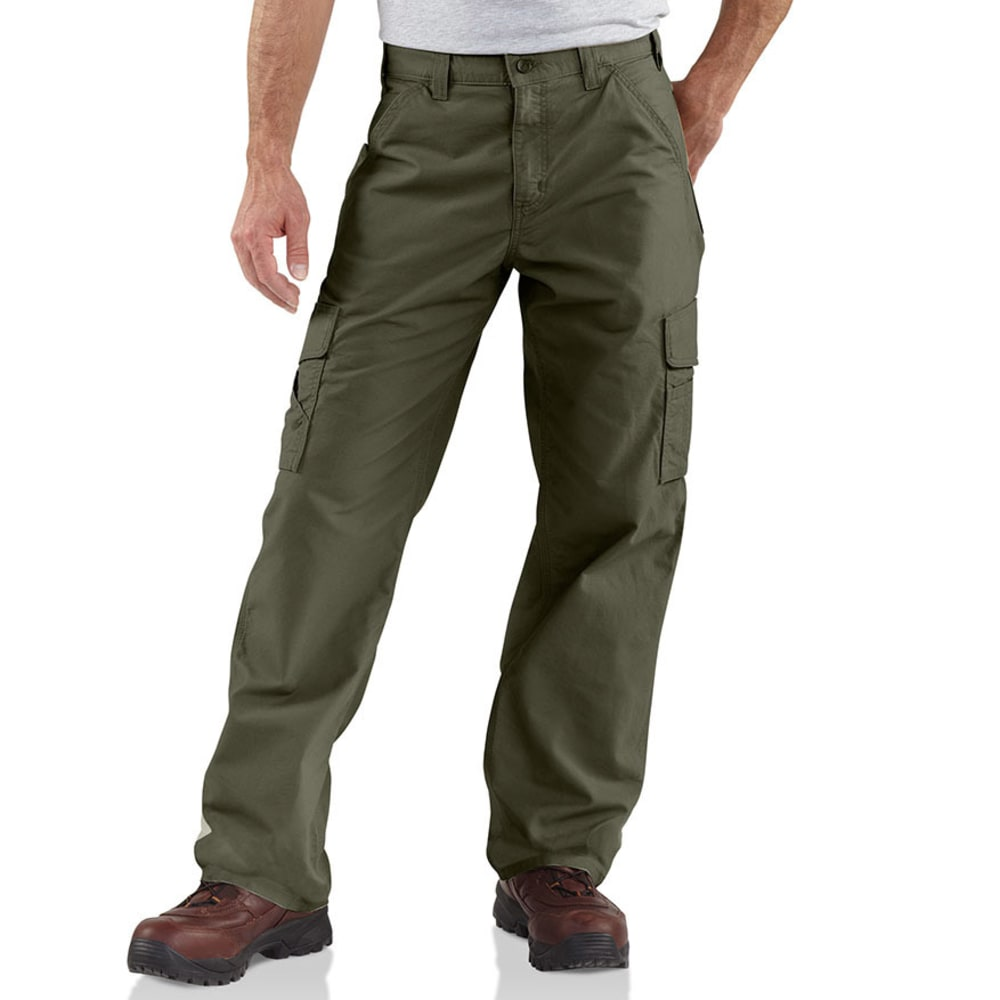 CARHARTT Men's Canvas Utility Cargo Pants - DARK OLIVE