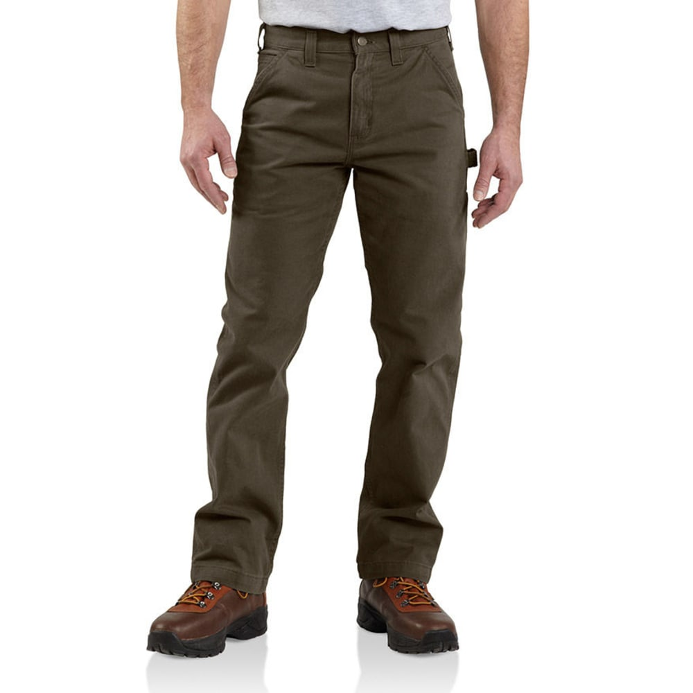 Carhartt Men's Washed Twill Dungarees - Brown, 32/30