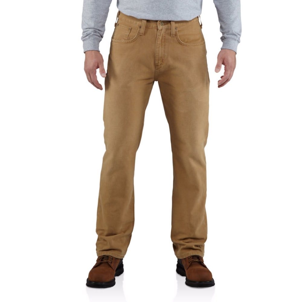 CARHARTT Men's Weathered Duck 5 Pocket Pants - 211 CARHARTT BROWN