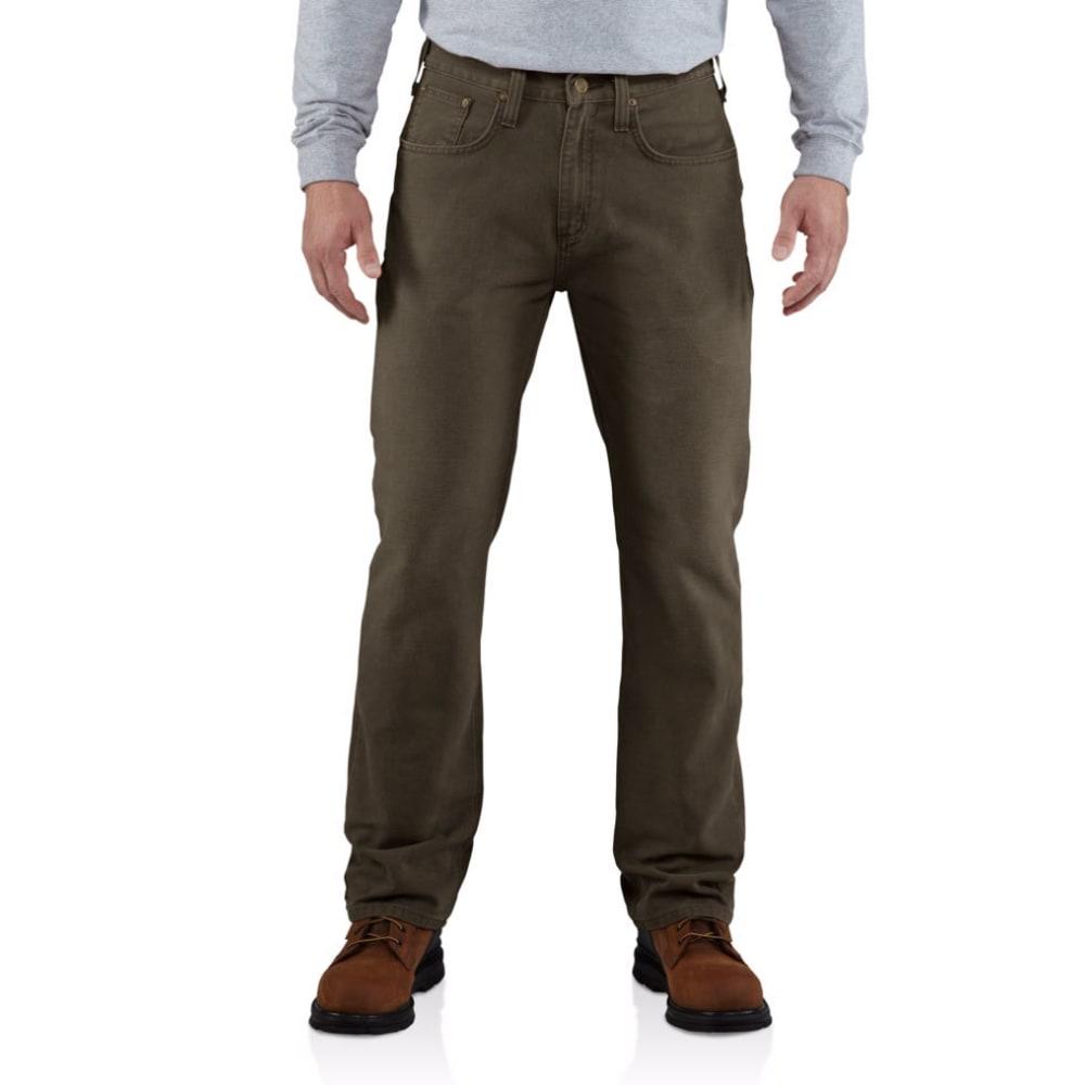 CARHARTT Men's Weathered Duck 5 Pocket Pants - DARK COFFEE