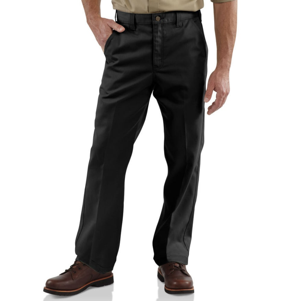 Carhartt Men's Twill Work Pants - Black, 46/30