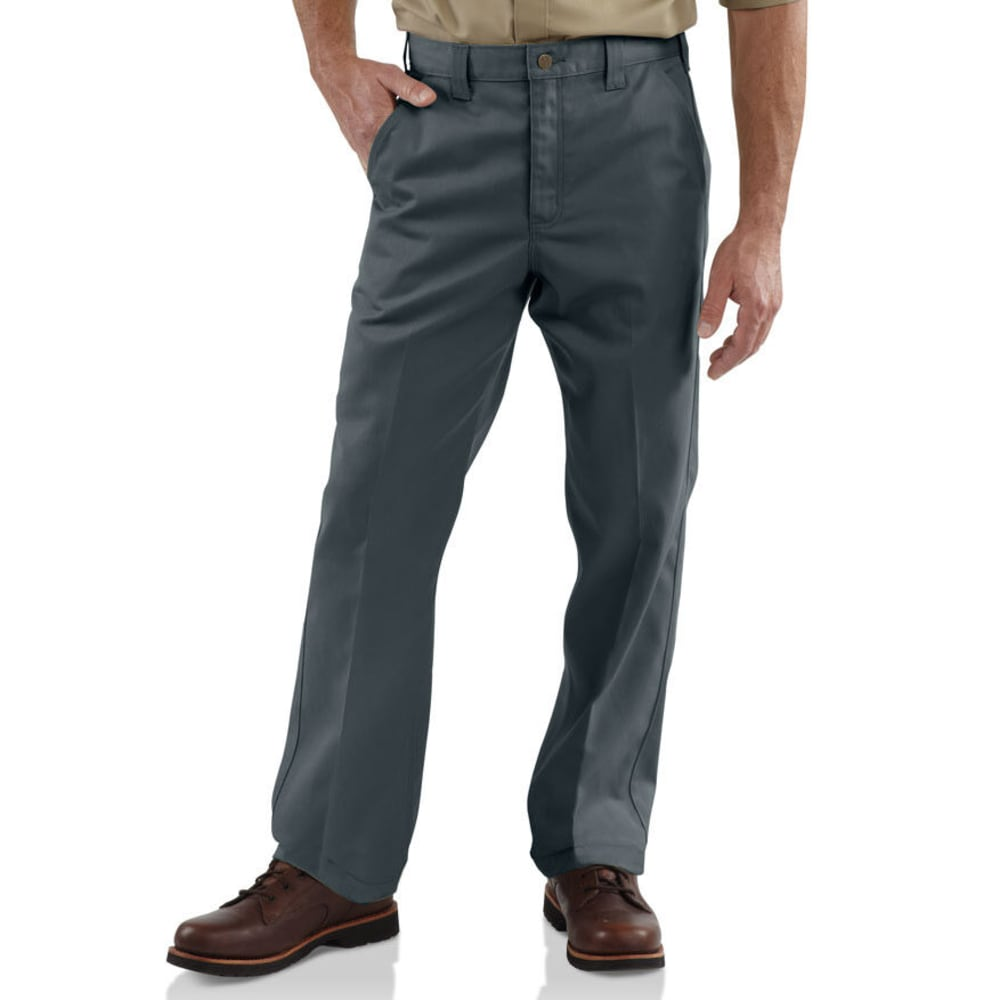 CARHARTT Men's Twill Work Pants, Extended Sizes - DARK GREY