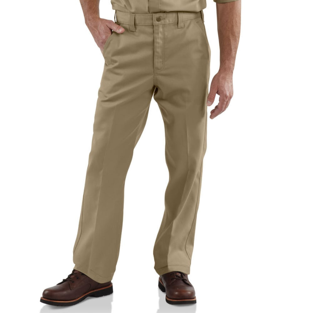 CARHARTT Men's Twill Work Pants, Extended Sizes - KHAKI
