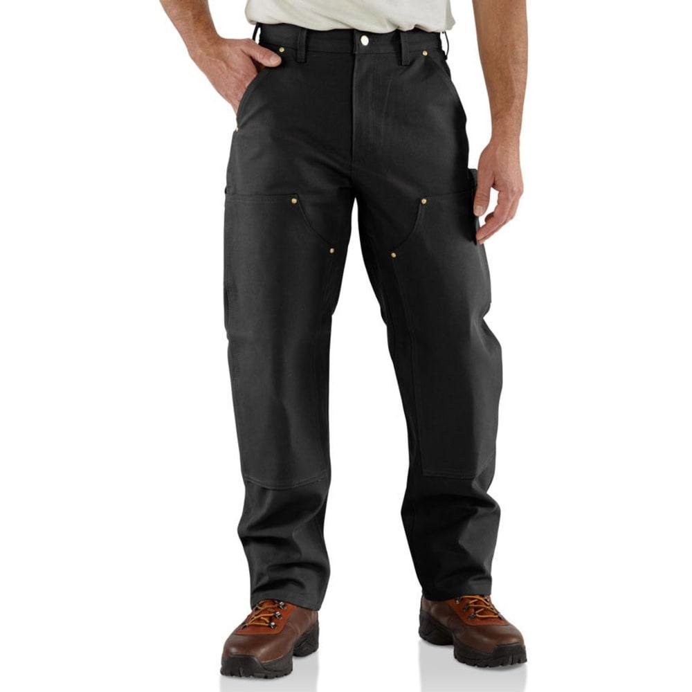CARHARTT Men's Double Front Workwear Dungarees - BLACK