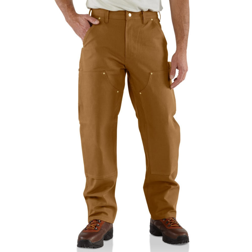 Carhartt Men's Double Front Workwear Dungarees - Brown, 40/30