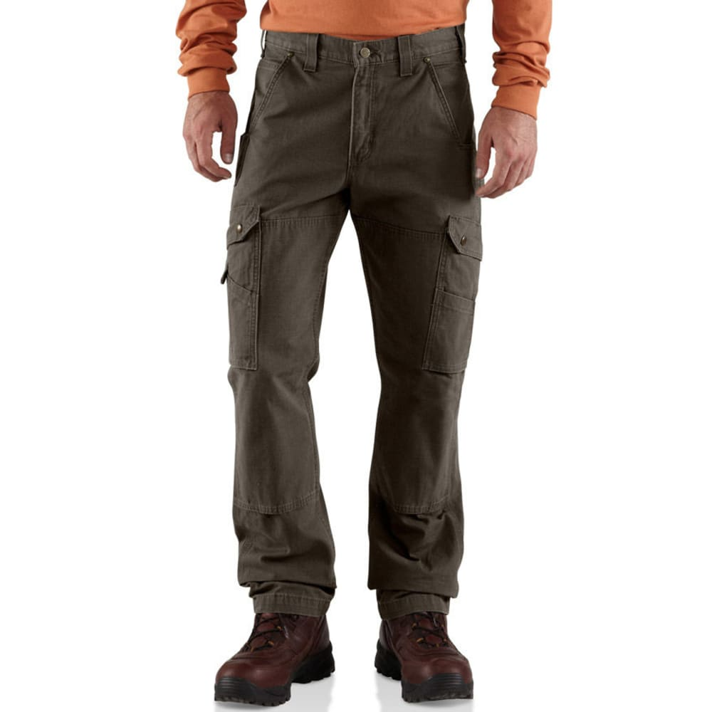 CARHARTT Men's Cotton Ripstop Pants - DARK COFFEE