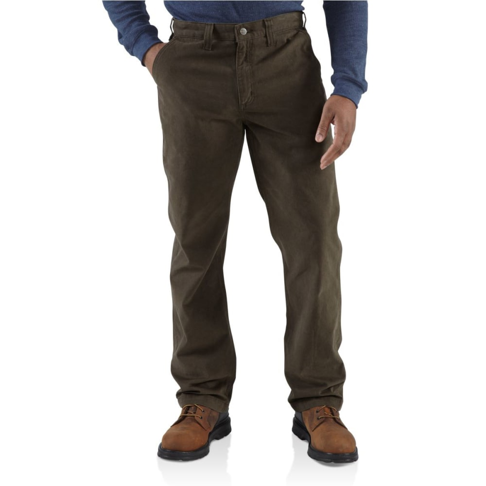 CARHARTT Men's Rugged Work Khaki Pants - DARK COFFEE