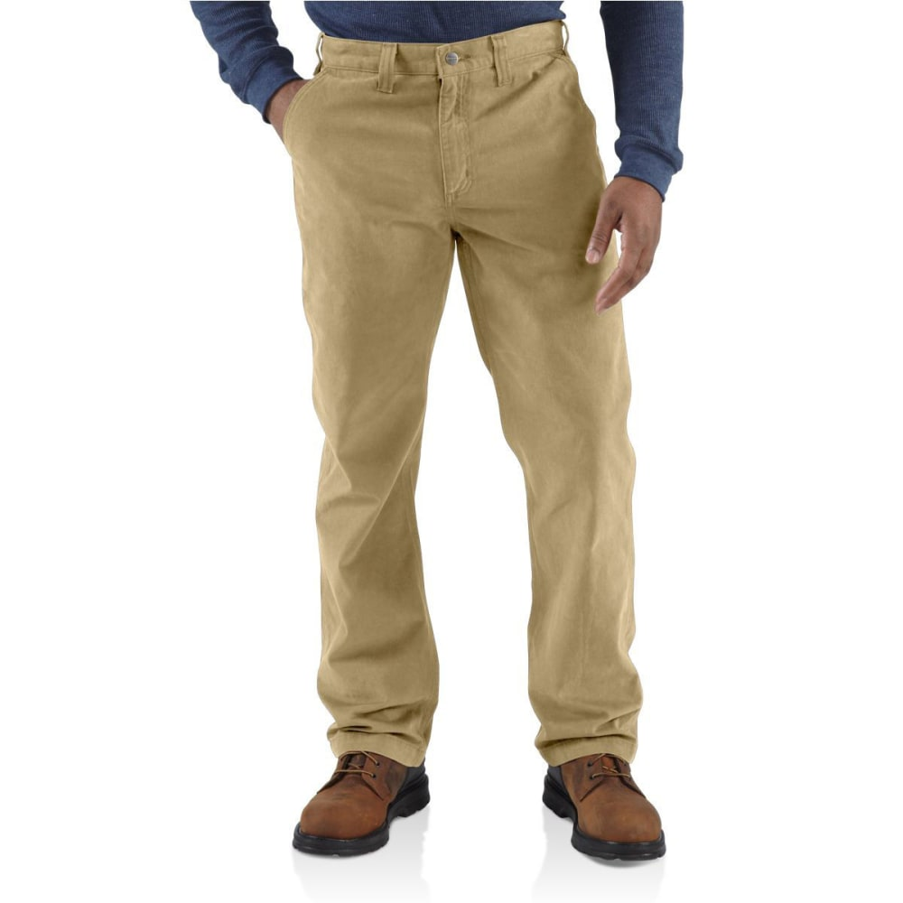 Carhartt Men's Rugged Work Khaki Pants - Brown, 32/30