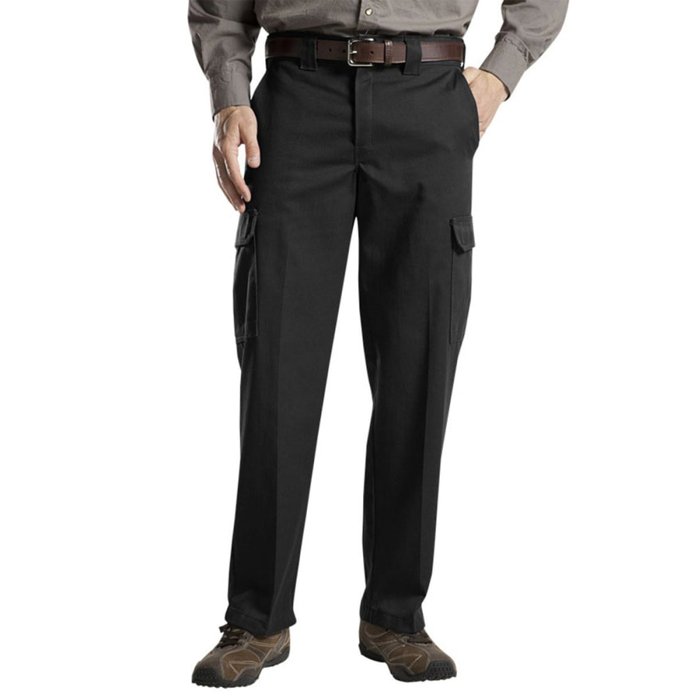 Dickies Men's Relaxed Cargo Work Pants - Black, 42/30