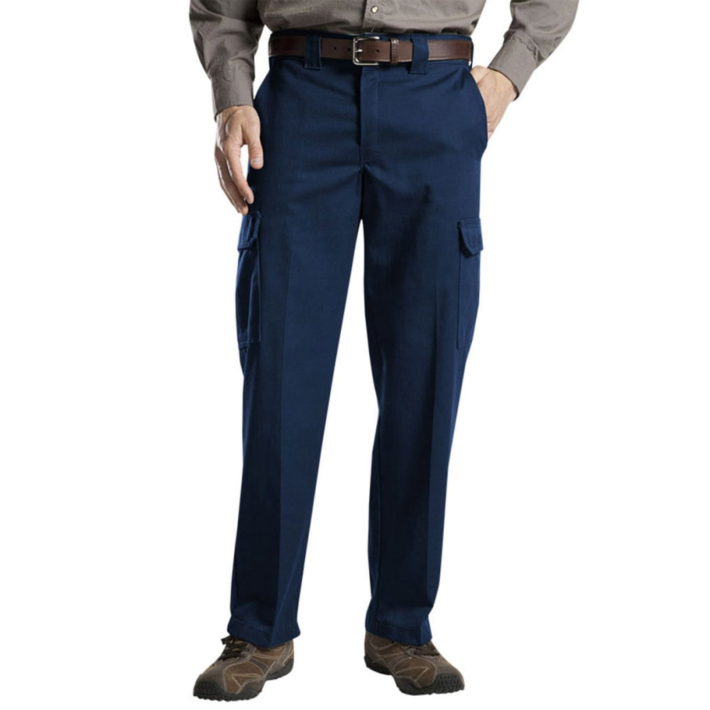 DICKIES Men's Relaxed Cargo Work Pants - SCATTER/VOLCANO