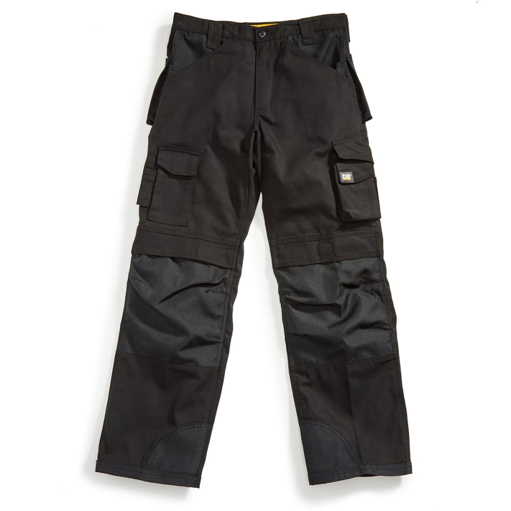 CAT Men's Trademark Multi Pocket Utility Pants - Black, 34/30