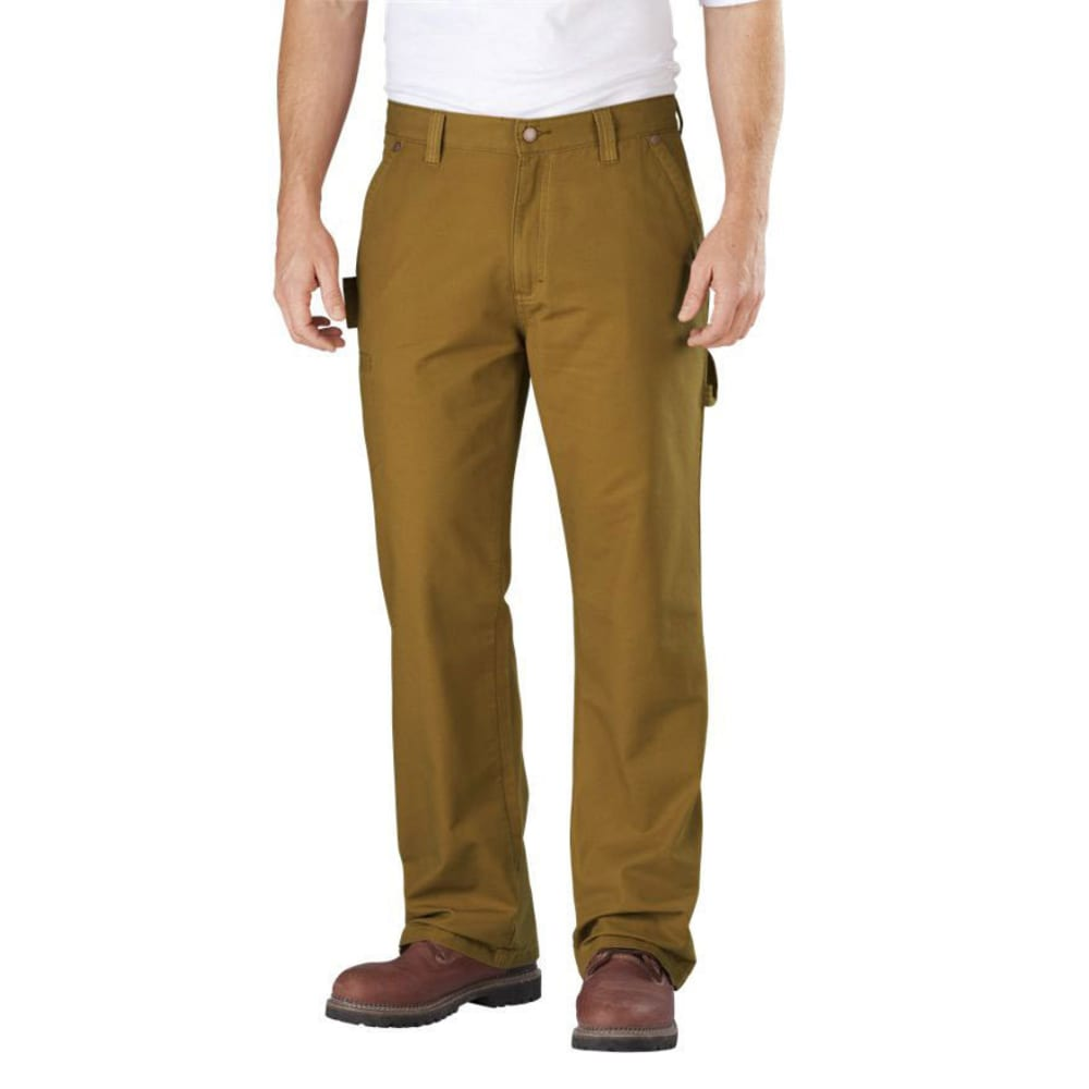 DICKIES Men's Relaxed Straight Fit Carpenter Jeans - BROWN DUCK
