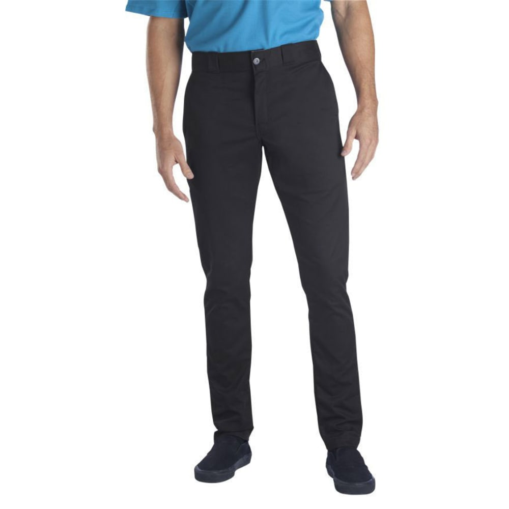 DICKIES Men's Skinny Straight Fit Work Pants - BLACK