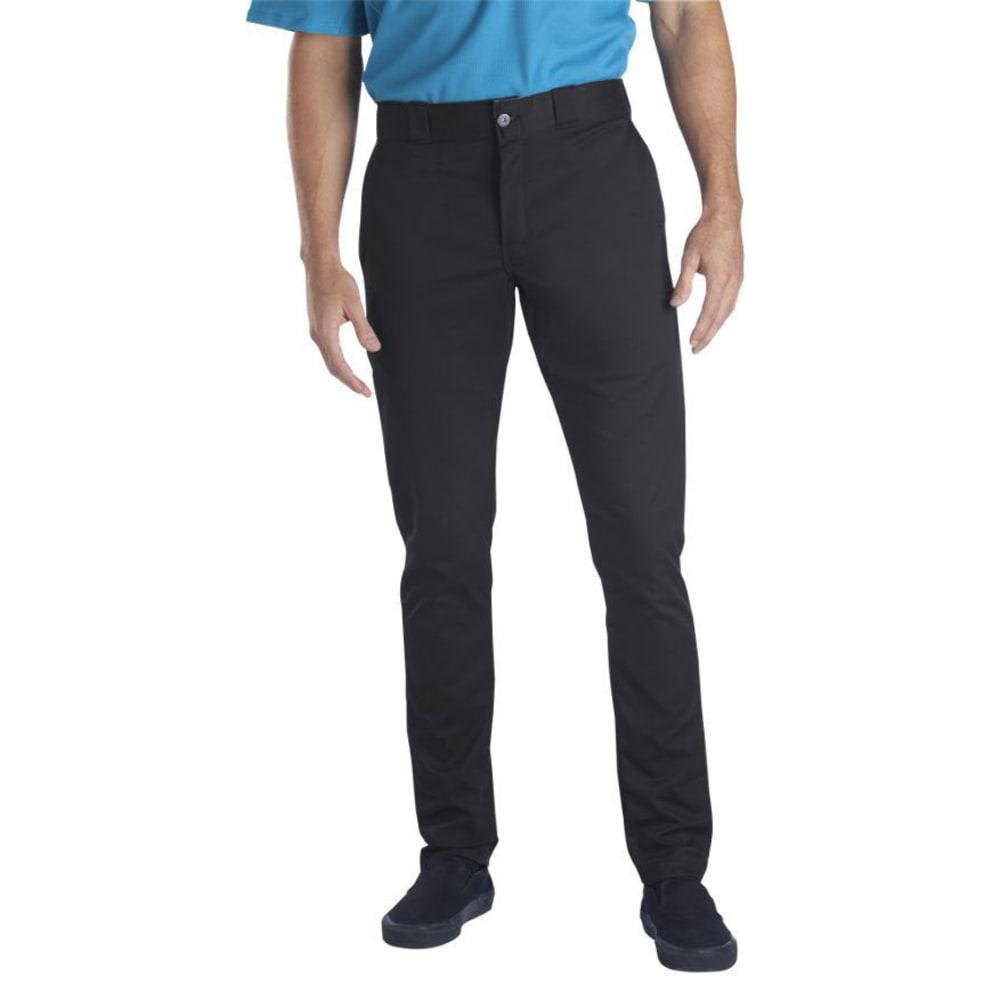 DICKIES Men's Skinny Straight Fit Work Pants - BLACK