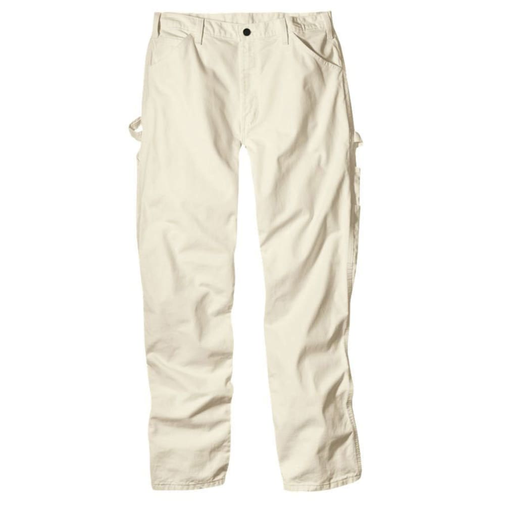Dickies Men's Relaxed Fit Utility Painter Pants - White, 30/30