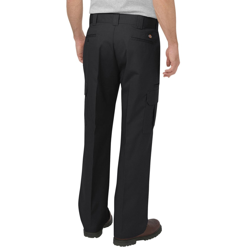 DICKIES Men's Relaxed Fit Straight Leg Cargo Pants - BLACK/30