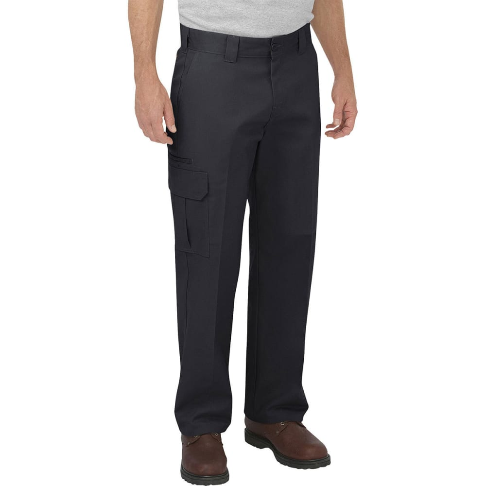 Dickies Men's Relaxed Fit Straight Leg Cargo Pants - Black, 34/30