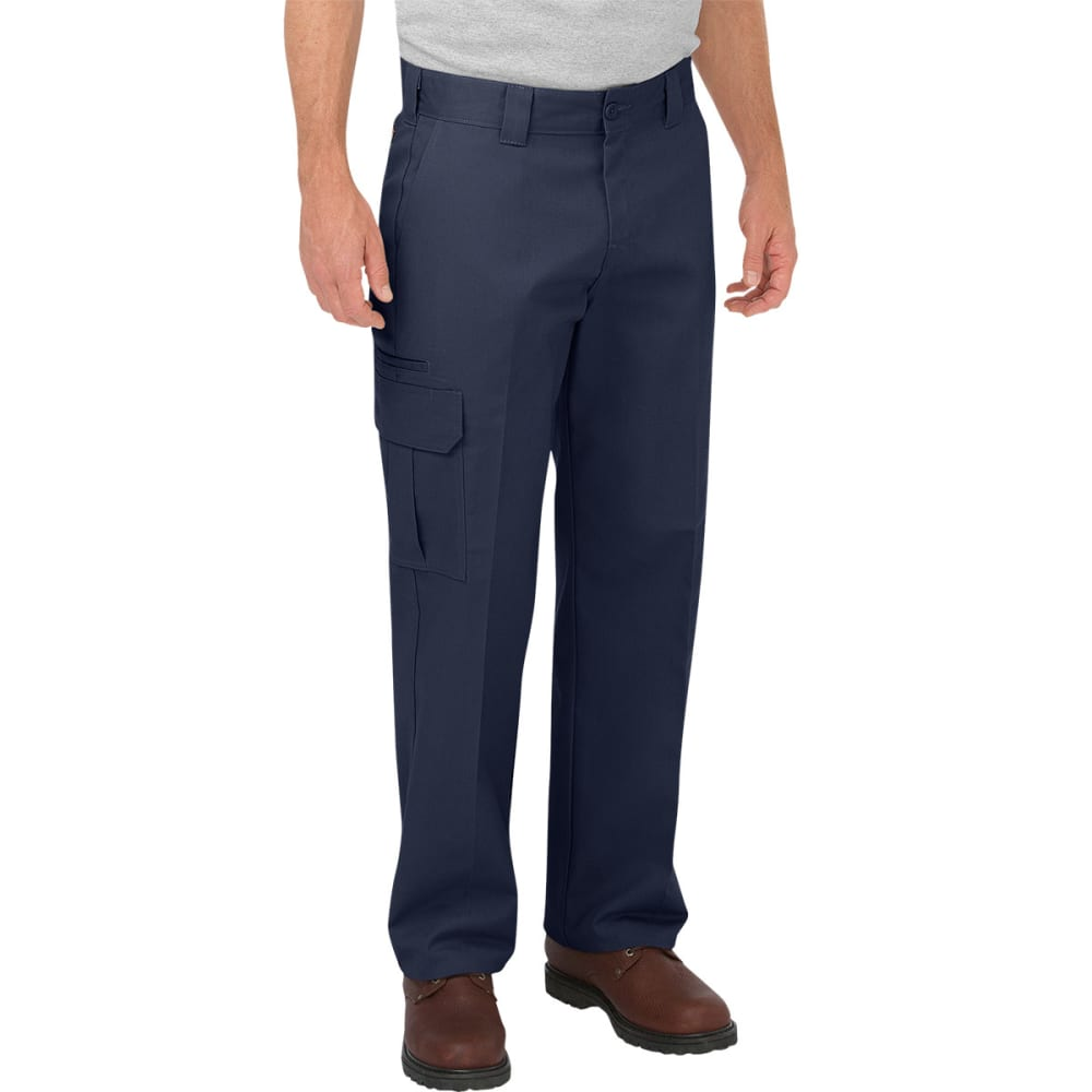 Dickies Men's Relaxed Fit Straight Leg Cargo Work Pants - Blue, 32/30
