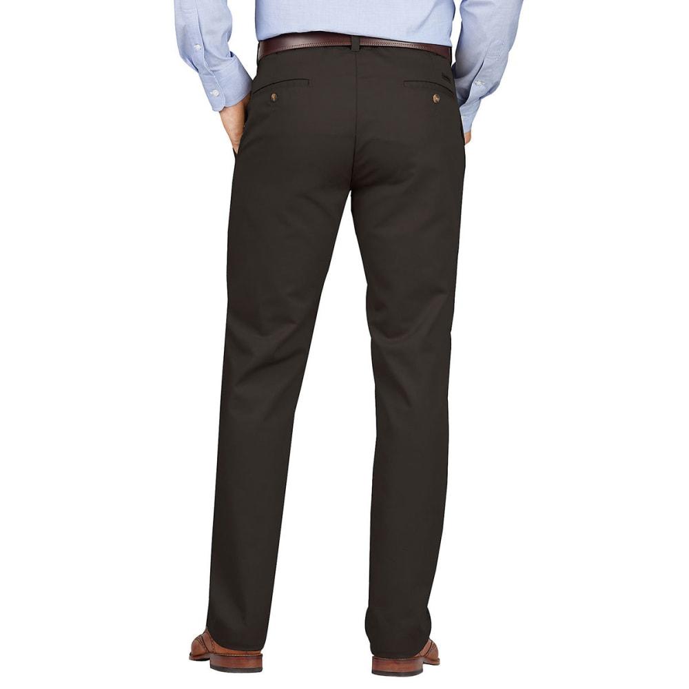 DICKIES Men's Dickies KHAKI Slim Fit Tapered Leg Flat Front Pant - RNSD BLACK-RBK