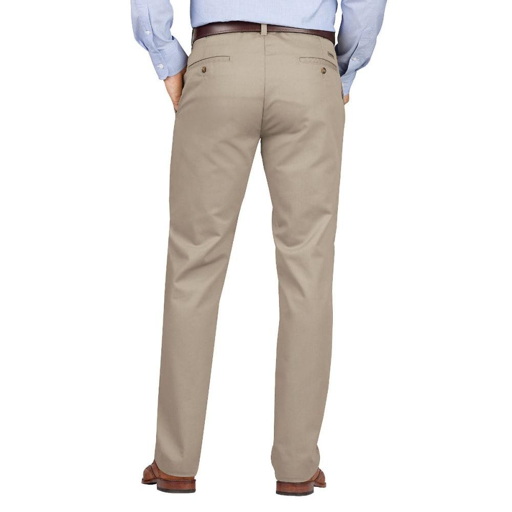 DICKIES Men's Dickies KHAKI Slim Fit Tapered Leg Flat Front Pant - RNSD DESERT SAND-RDS