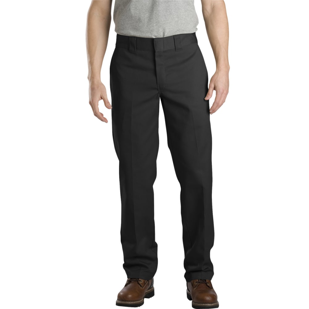 DICKIES Men's Slim Fit Straight Leg Work Pants - BLACK
