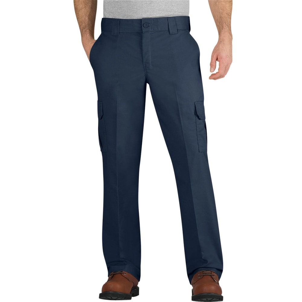 DICKIES Men's Flex Regular Fit Straight Leg Cargo Pants - DARK NAVY