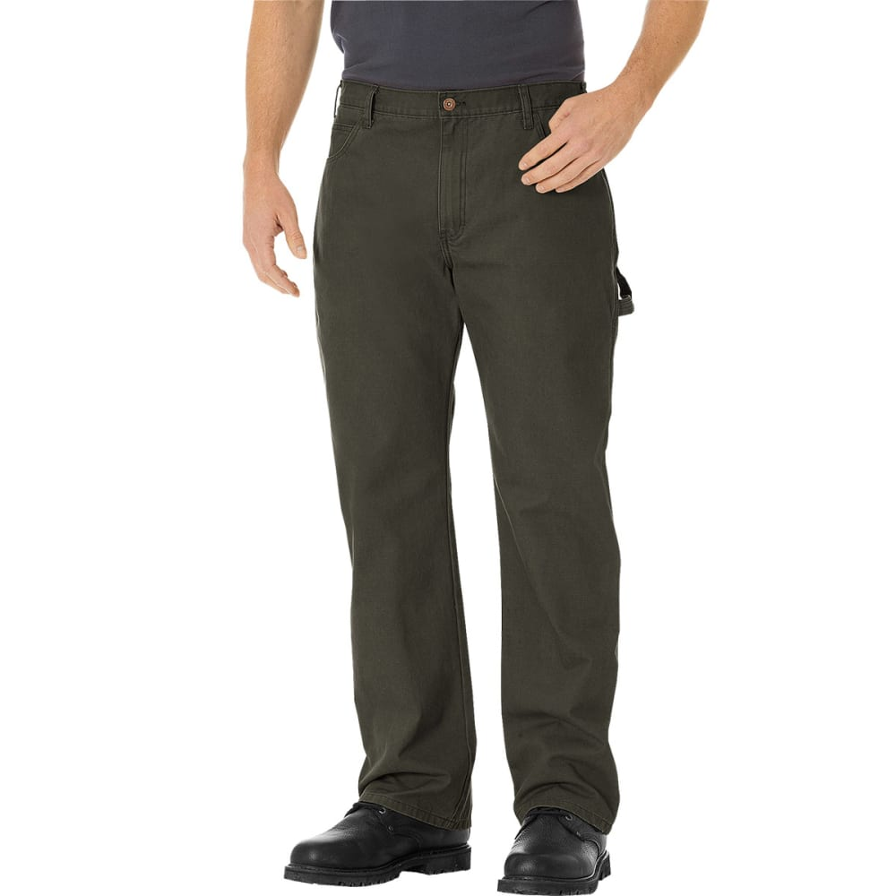 DICKIES Men's Relaxed Straight Fit Carpenter Duck Jeans - BLACK