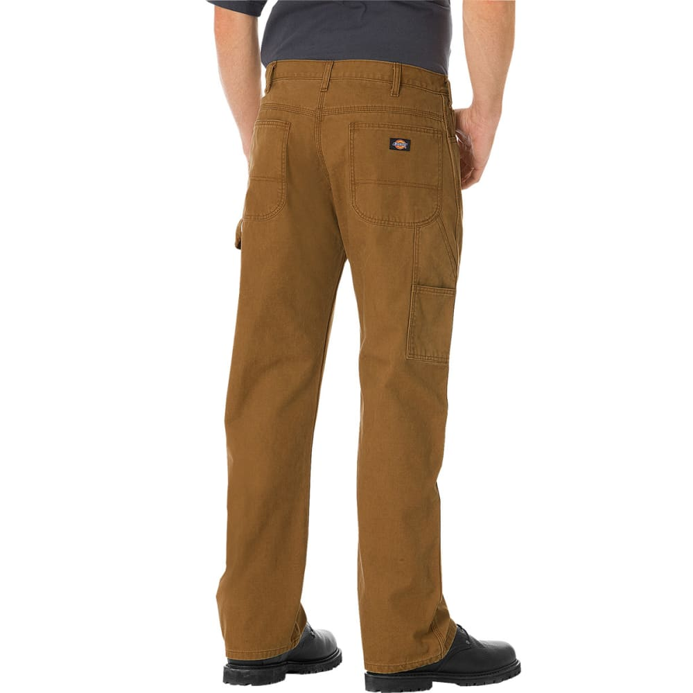 DICKIES Men's Relaxed Straight Fit Carpenter Duck Jeans - BROWN DUCK